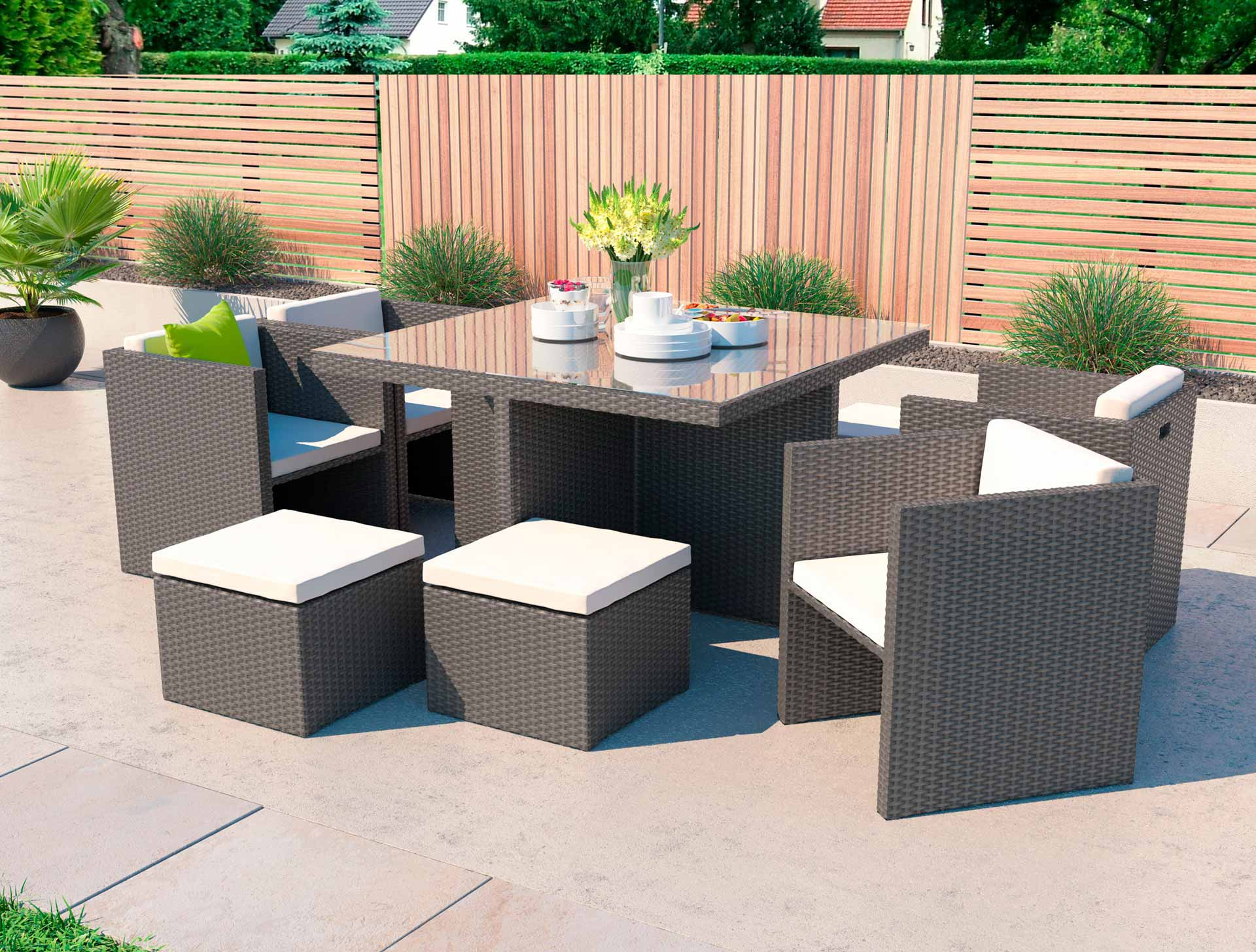 artelia purchase the rattan cube dining set boreas m. Black Bedroom Furniture Sets. Home Design Ideas