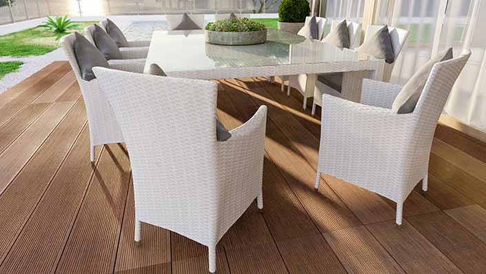 Ceres Max - Rattan Dining Table Set