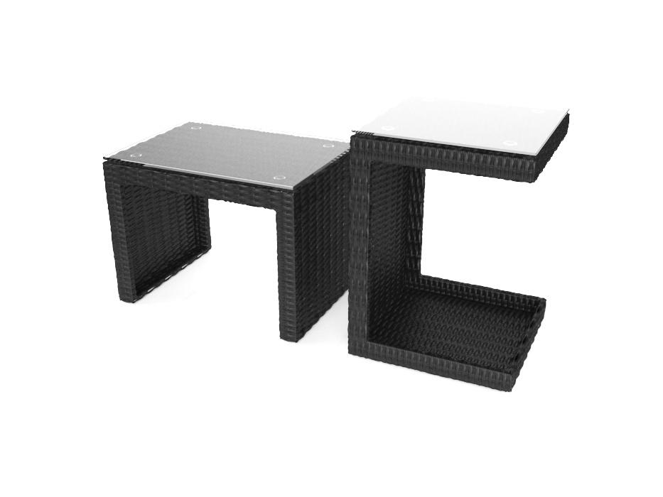 artelia double side table. Black Bedroom Furniture Sets. Home Design Ideas