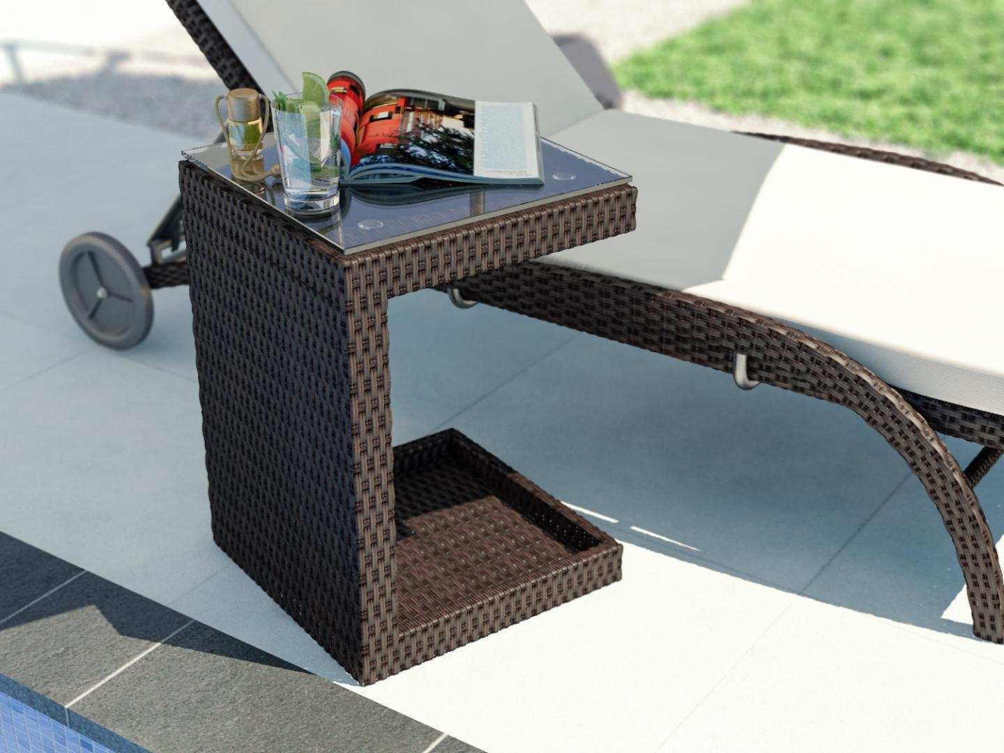 table for sun loungers Double Sided Table