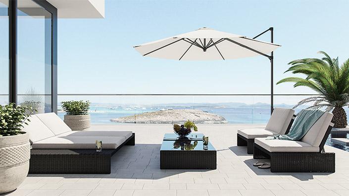 Estoria L - Outdoor Garden Furniture Set