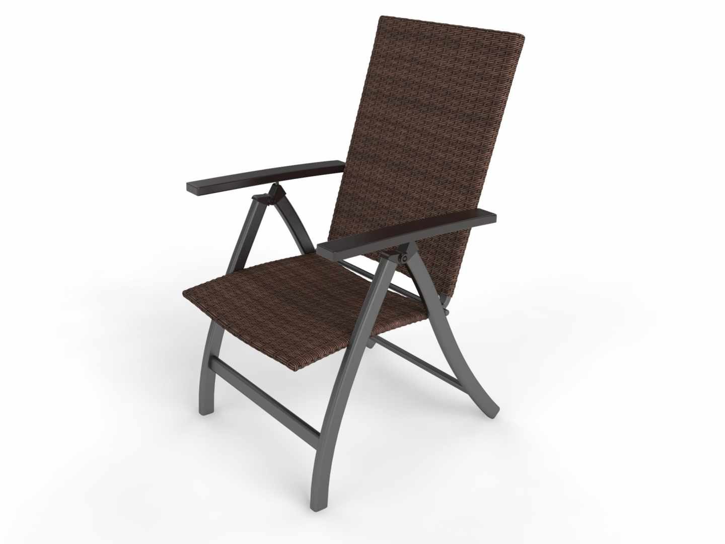 rattan deck chairs Set of 2 Foldable Chairs