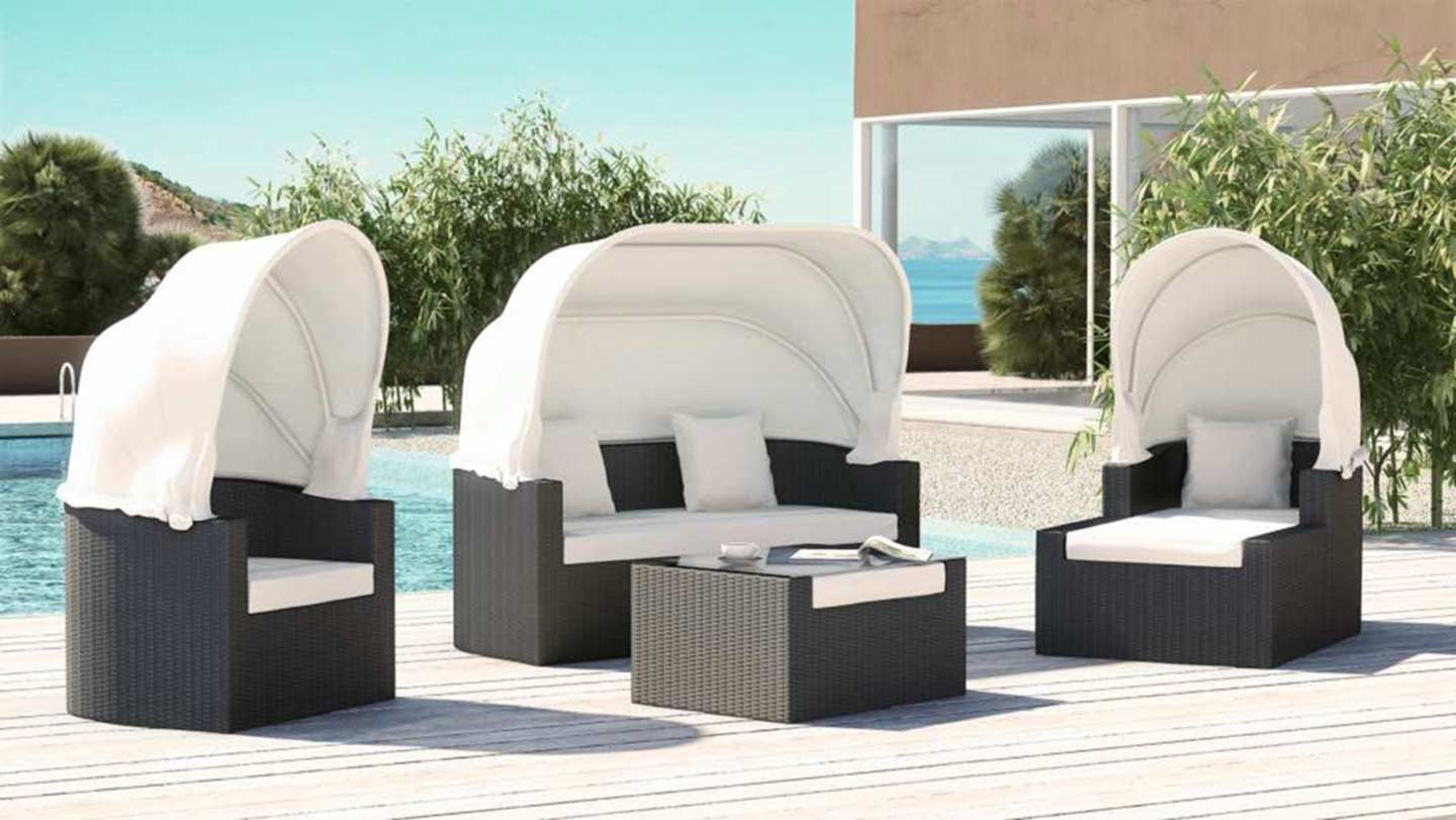 ARTELIA | Rattan Daybed Set for your garden