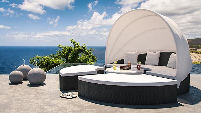Hummel - rattan sun island