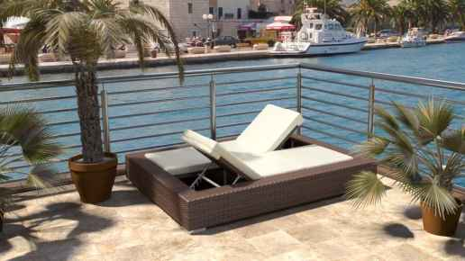 Rattan Double Lounger - Hypnos