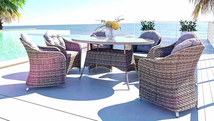Livia L - Rattan Dining Collection