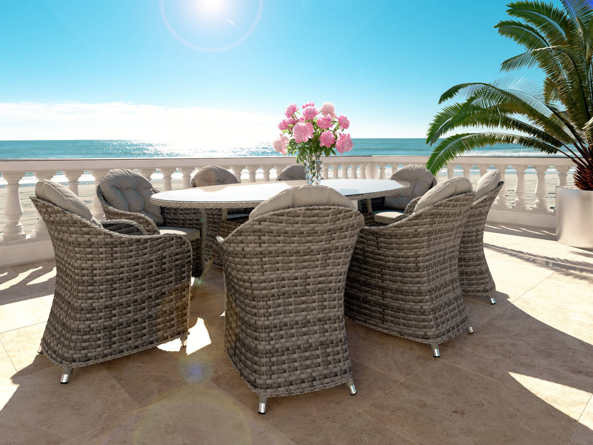 Rattan Dining Collection Livia XL