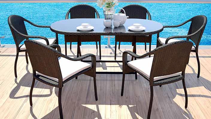 Mila M - Rattan Dining Table Set