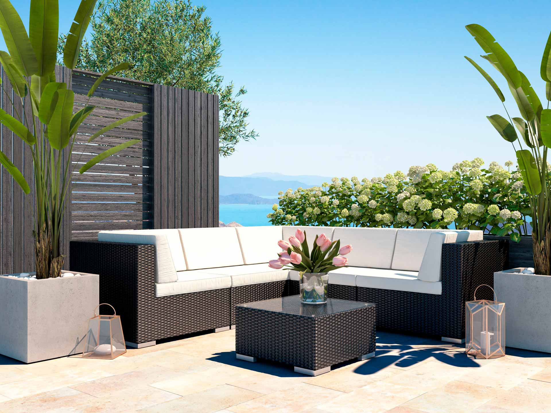 ARTELIA Outdoor Rattan Lounge Suite Perfect For Your