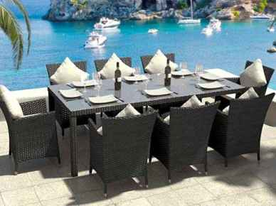 Rattan Dining Table Set - Ceres XL