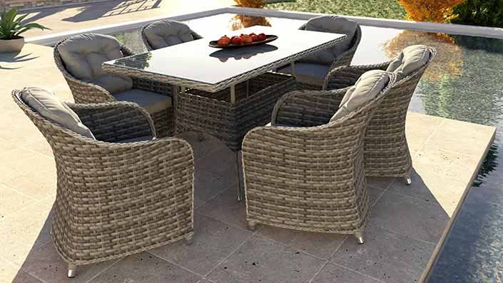 Velia L - Rattan Dining Collection