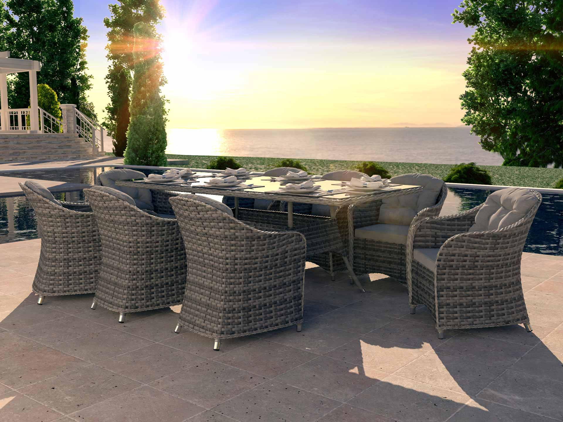 Rattan Dining Collection Velia XL