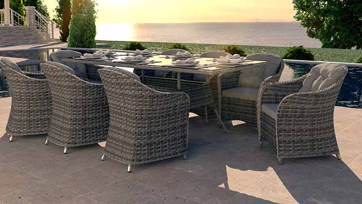 Velia XL - Rattan Dining Collection